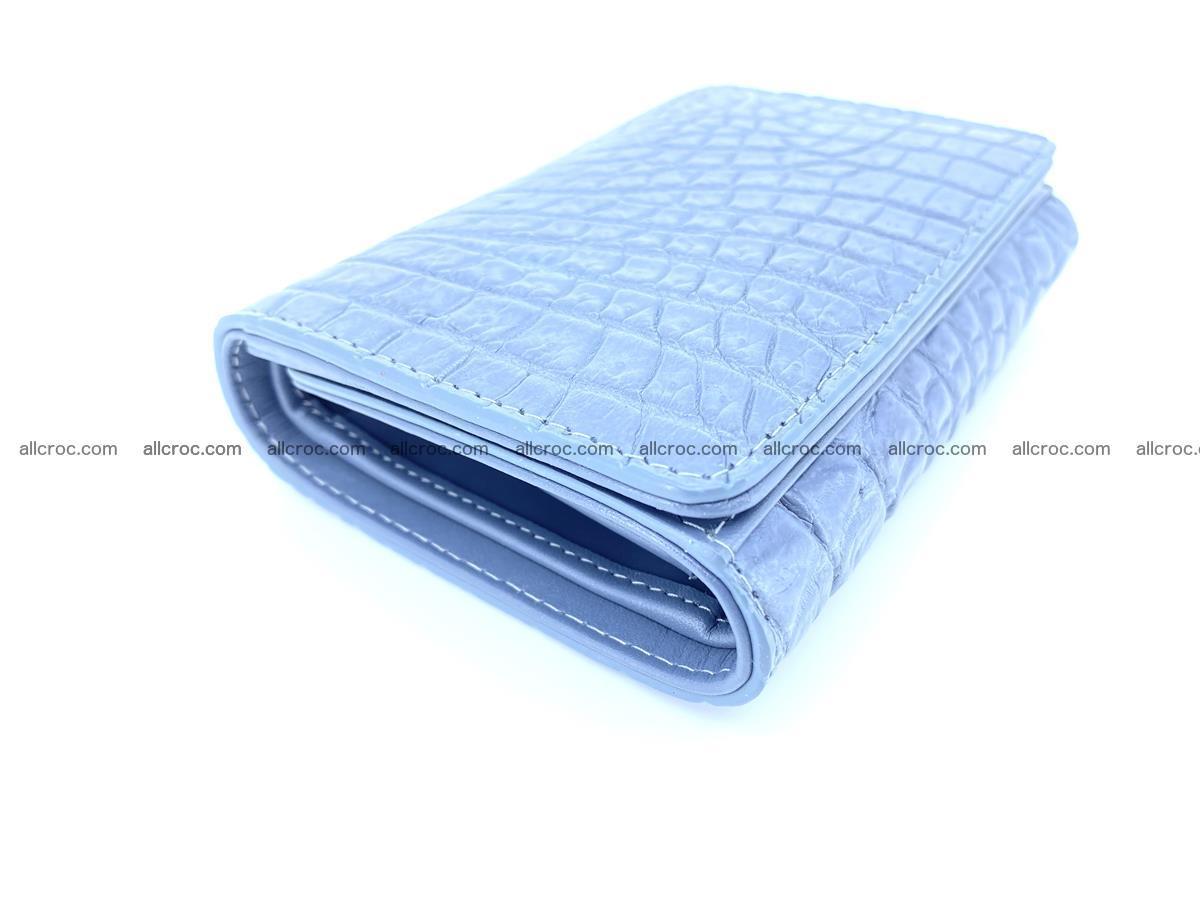 Genuine Siamese crocodile skin wallet for women 414 Foto 4
