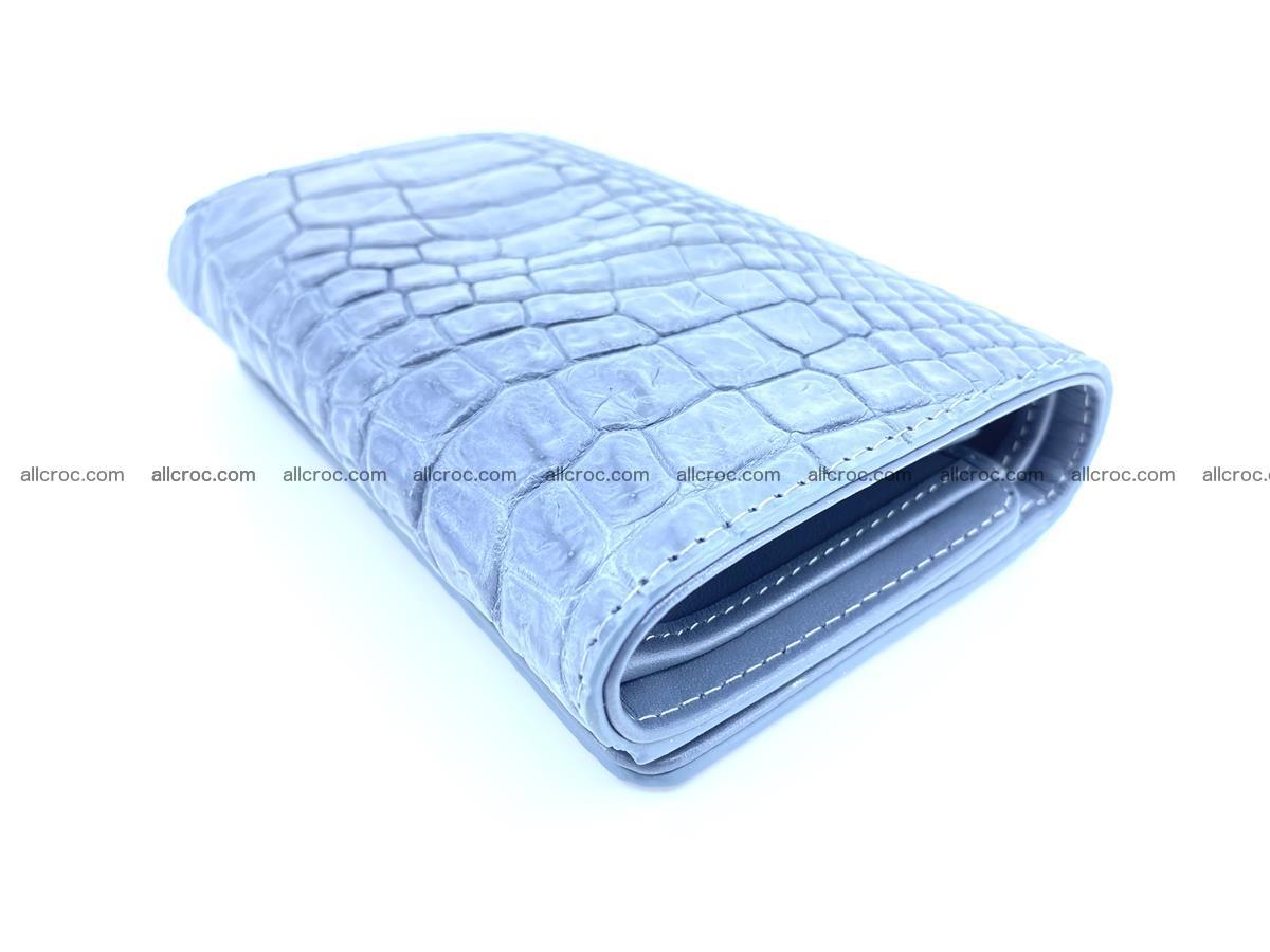 Genuine Siamese crocodile skin wallet for women 414 Foto 5