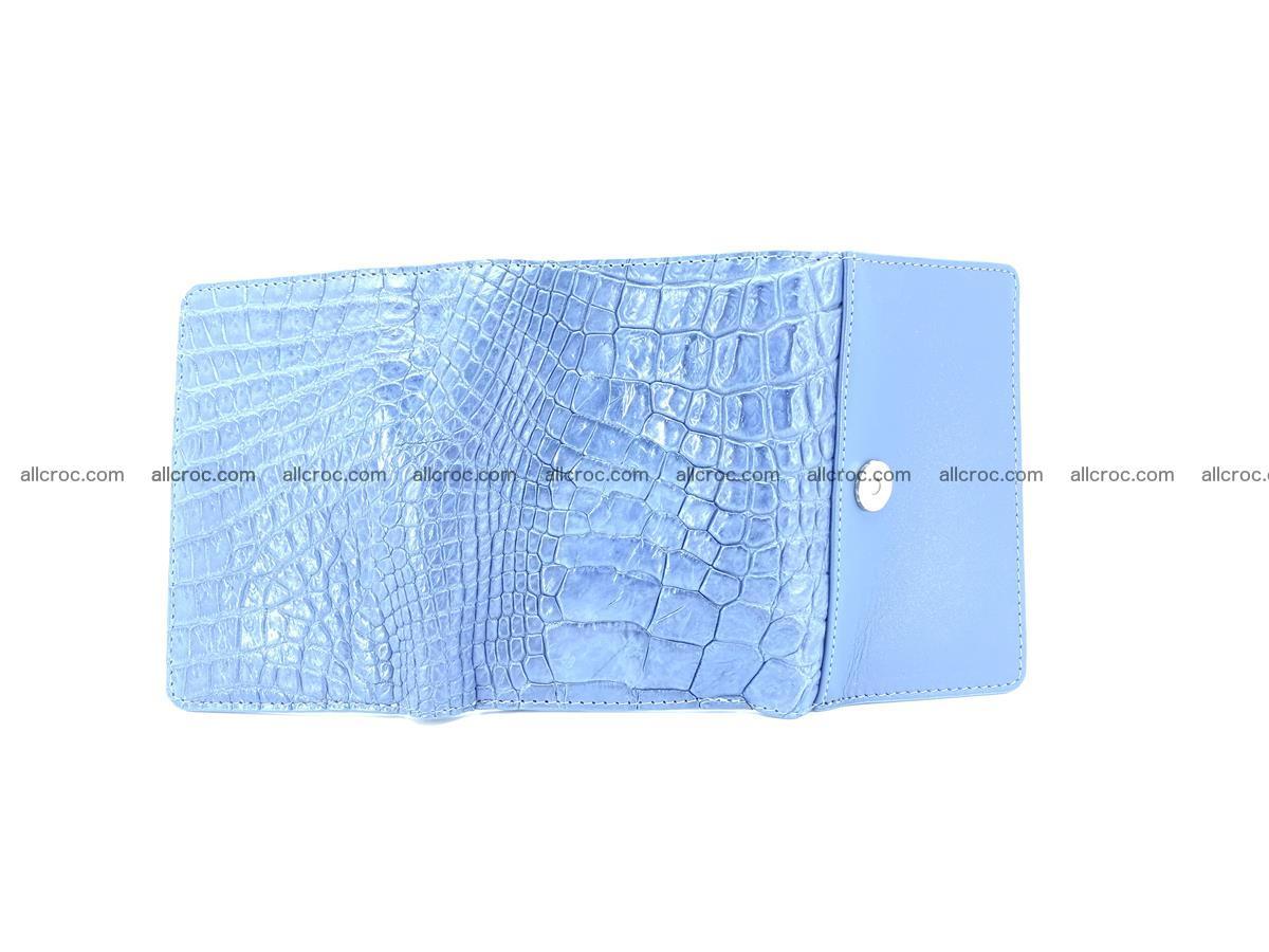 Genuine Siamese crocodile skin wallet for women 414 Foto 8