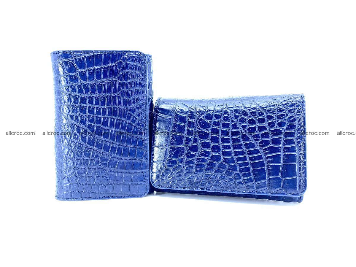 Genuine Siamese crocodile skin wallet for women 417 Foto 11