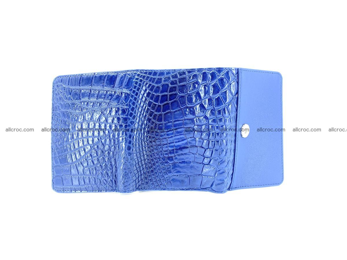 Genuine Siamese crocodile skin wallet for women 417 Foto 9