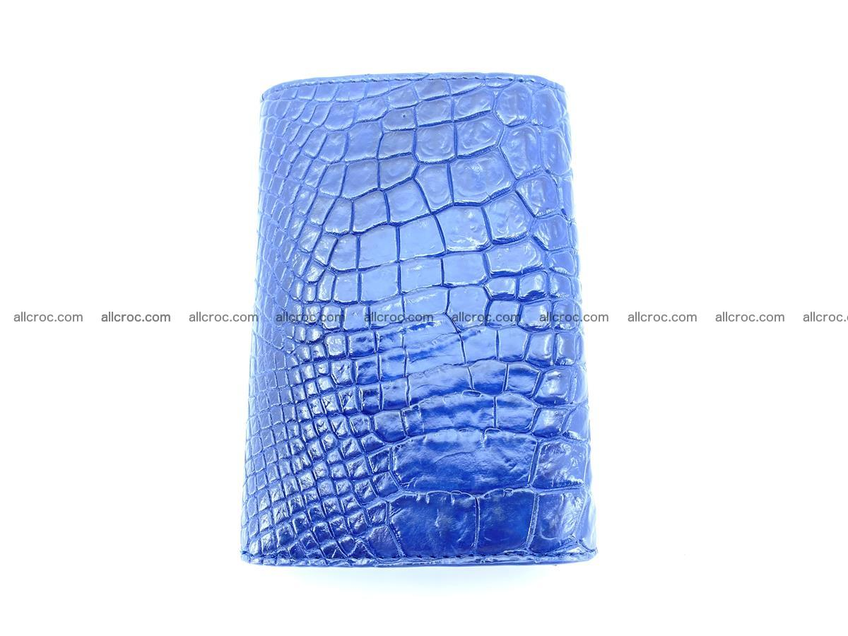 Genuine Siamese crocodile skin wallet for women 417 Foto 3