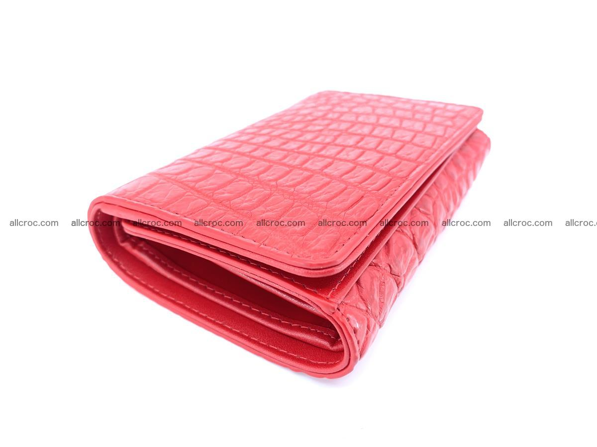 Genuine Siamese crocodile skin wallet for women 418 Foto 4