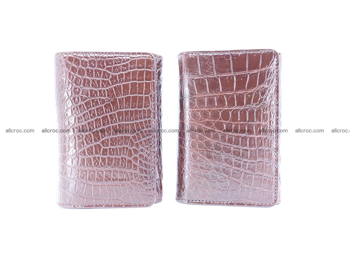Genuine Siamese crocodile skin wallet for women 416 Foto 11