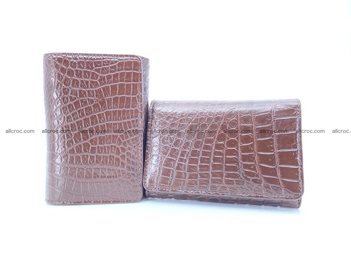 Genuine Siamese crocodile skin wallet for women 416 Foto 10