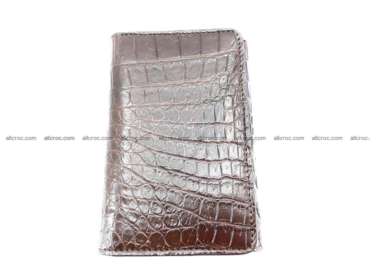 Genuine Siamese crocodile skin wallet for women 416 Foto 2
