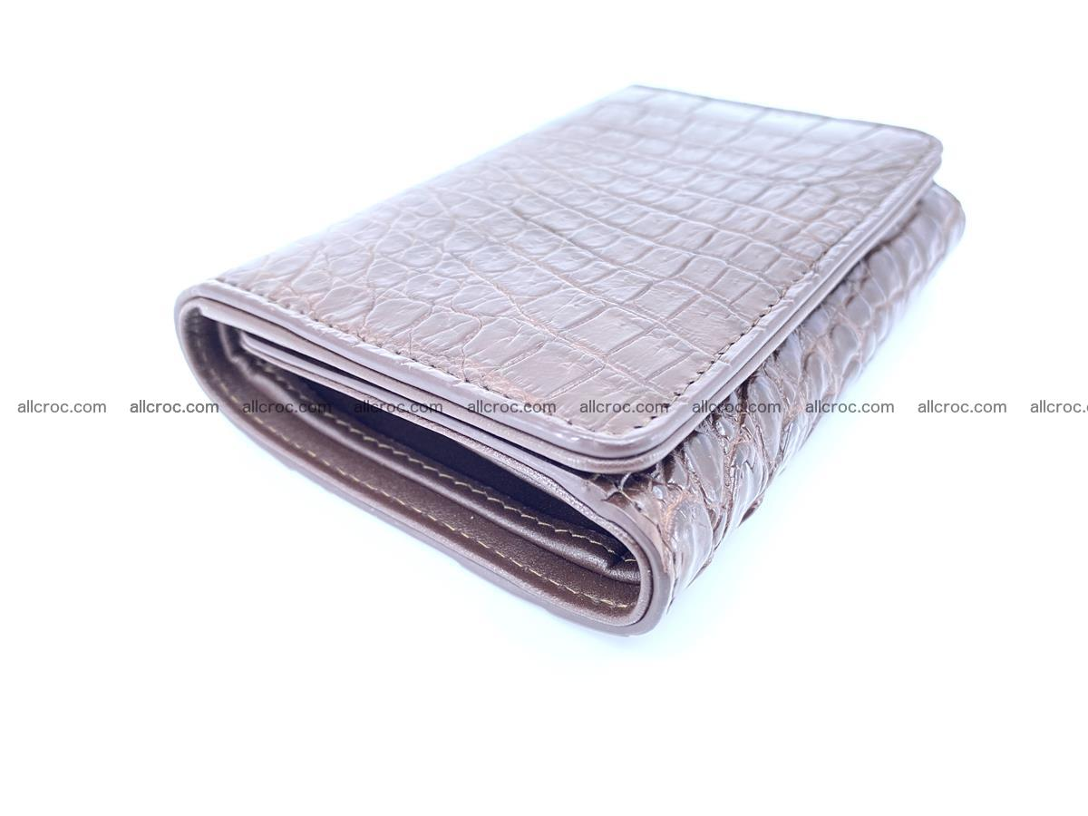 Genuine Siamese crocodile skin wallet for women 416 Foto 4