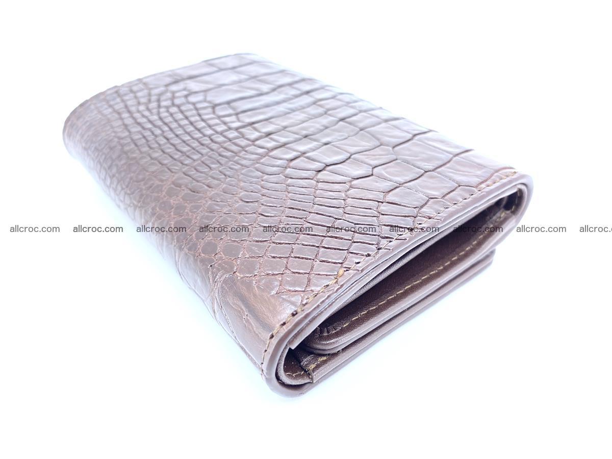 Genuine Siamese crocodile skin wallet for women 416 Foto 5