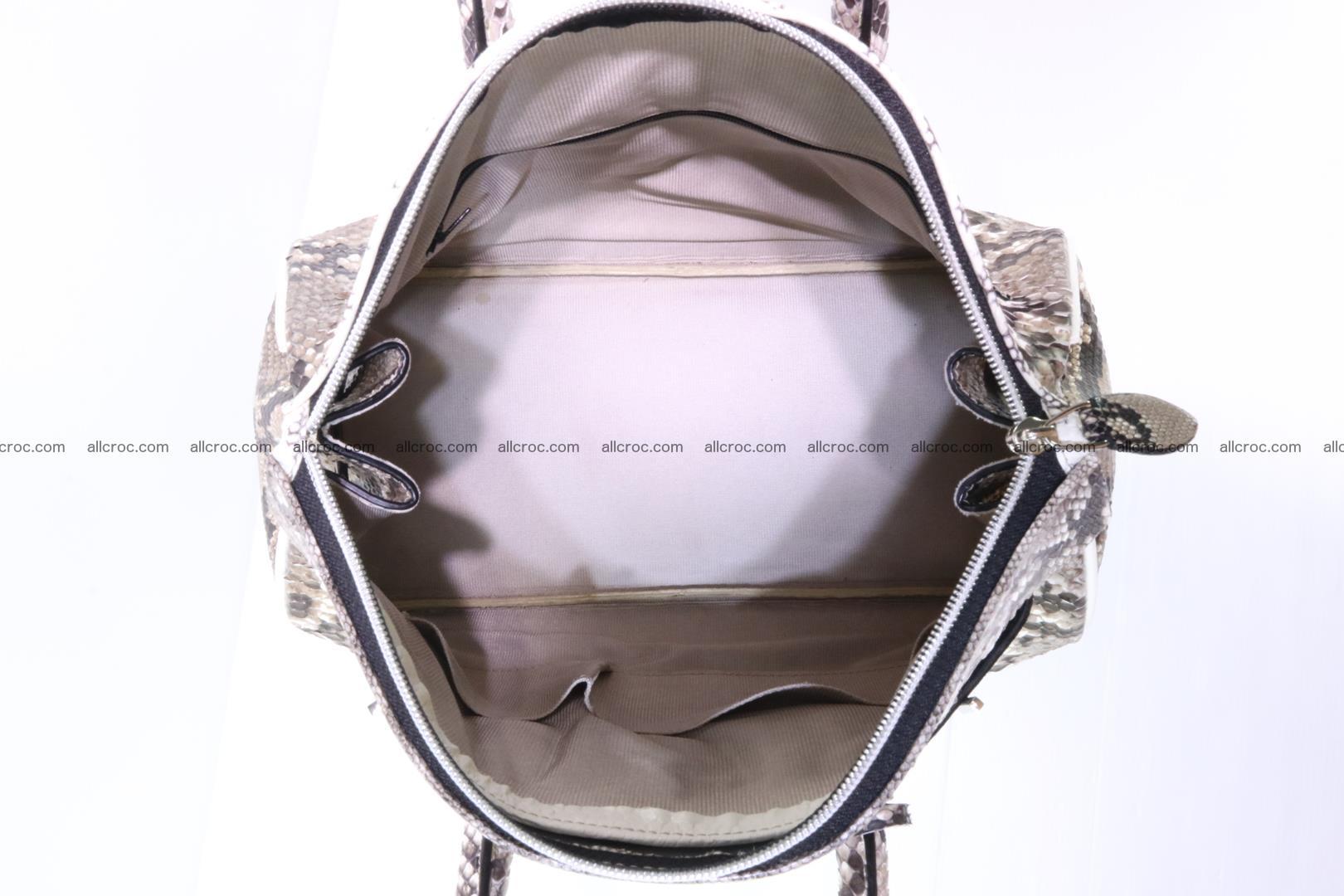 Handbag for lady from cobra skin copy of Birkin with cobra head 191 Foto 12