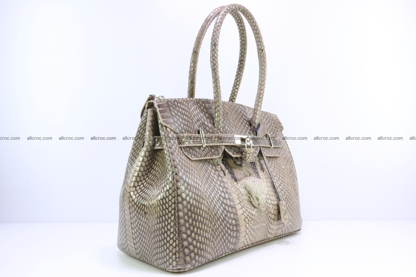 Handbag for lady from cobra skin copy of Birkin with cobra head 190 Foto 1