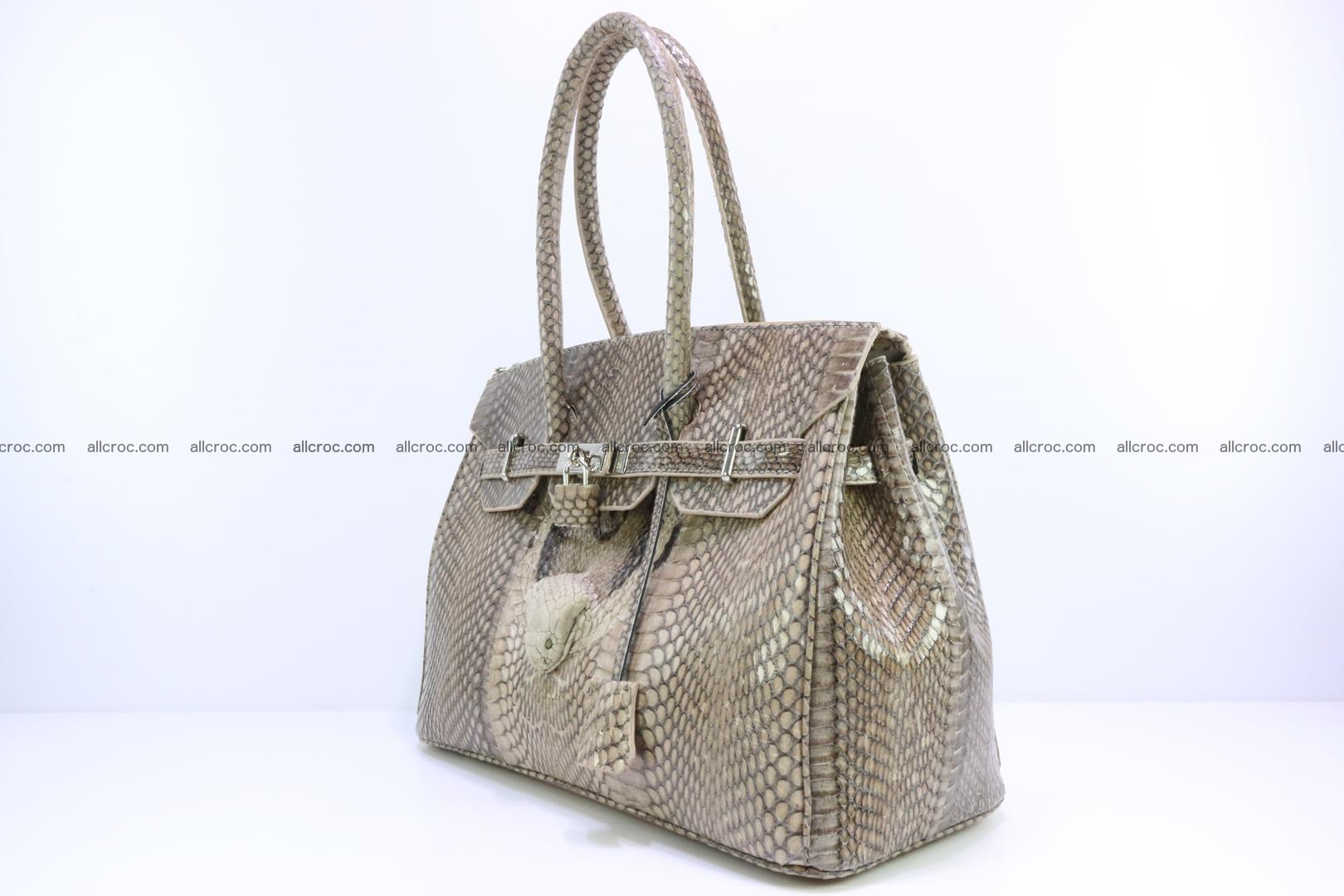 Handbag for lady from cobra skin copy of Birkin with cobra head 190 Foto 2