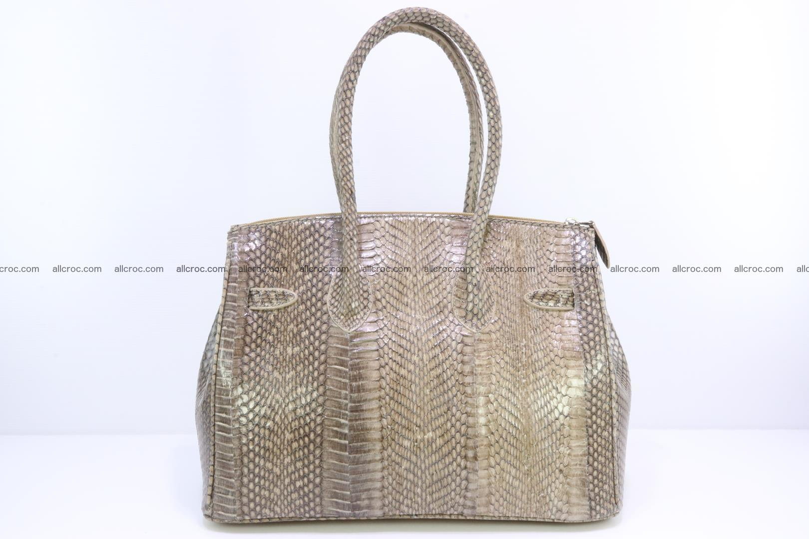 Handbag for lady from cobra skin copy of Birkin with cobra head 190 Foto 3