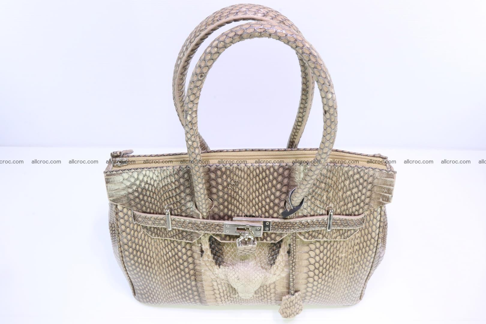 Handbag for lady from cobra skin copy of Birkin with cobra head 190 Foto 5