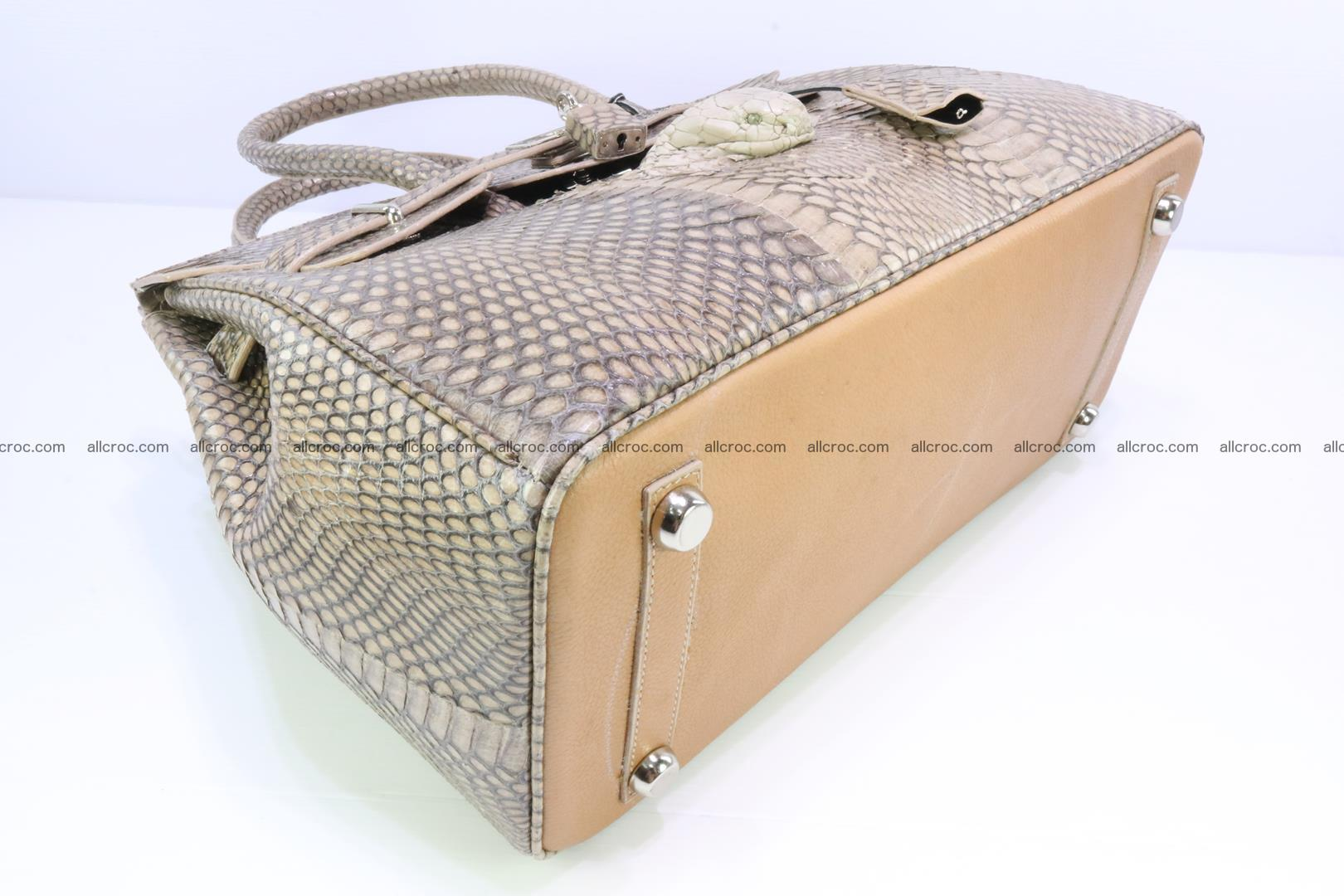 Handbag for lady from cobra skin copy of Birkin with cobra head 190 Foto 10