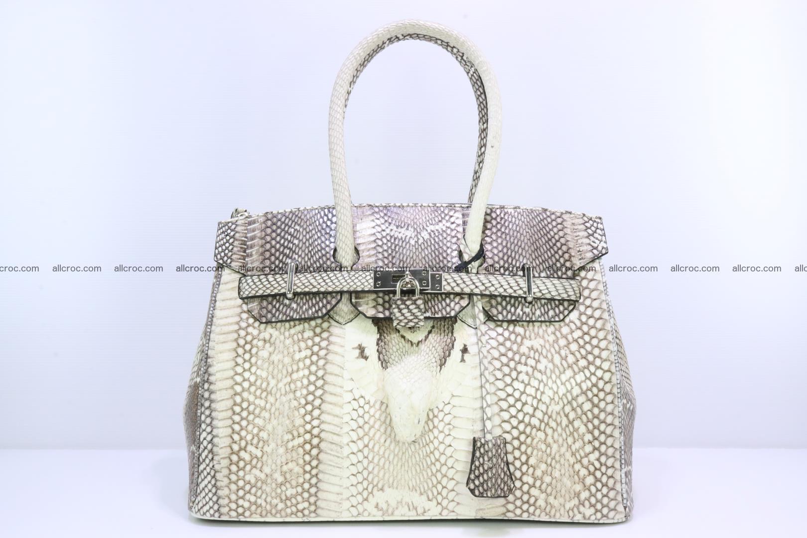Handbag for lady from cobra skin copy of Birkin with cobra head 191 Foto 0