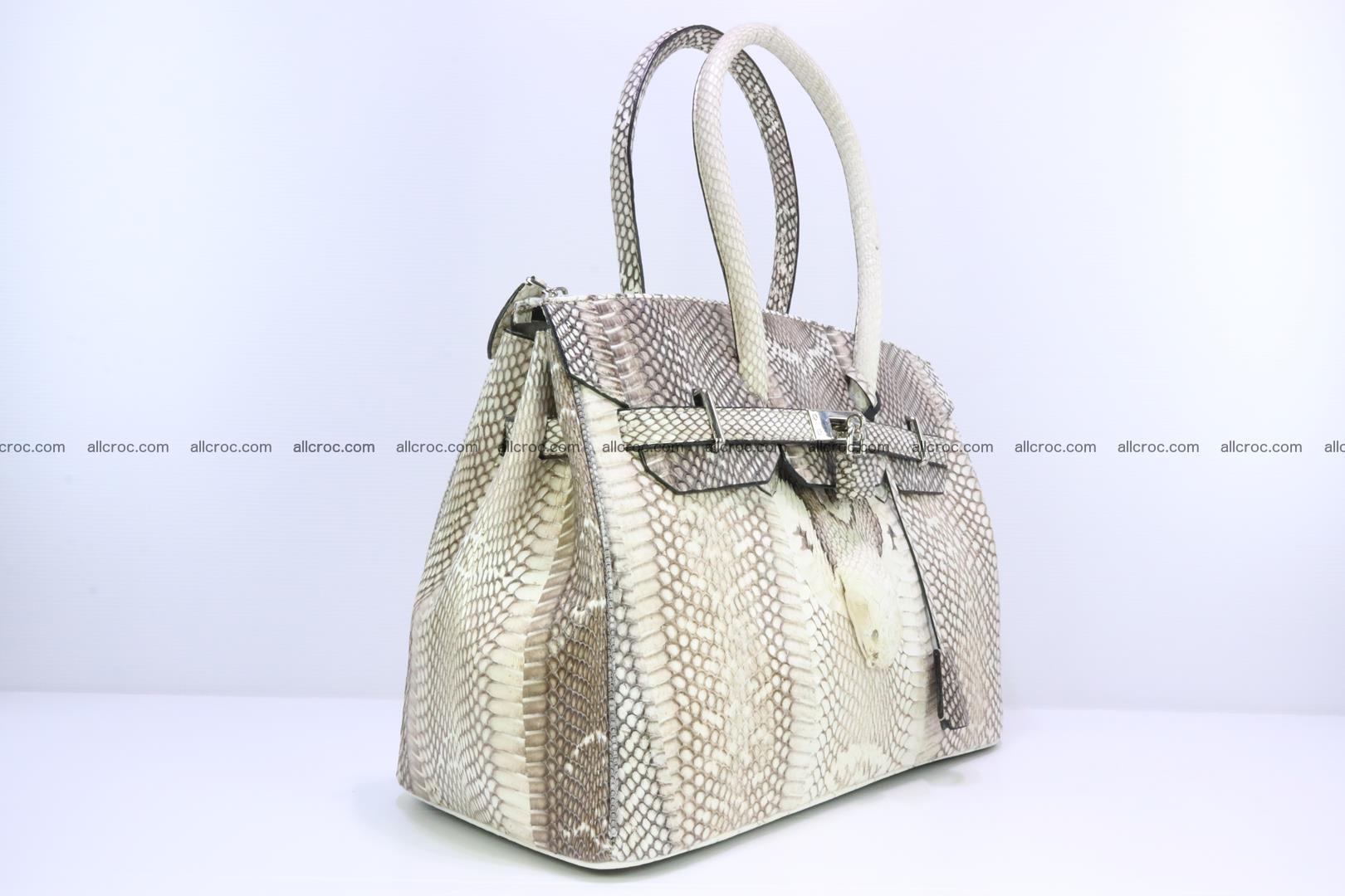 Handbag for lady from cobra skin copy of Birkin with cobra head 191 Foto 1