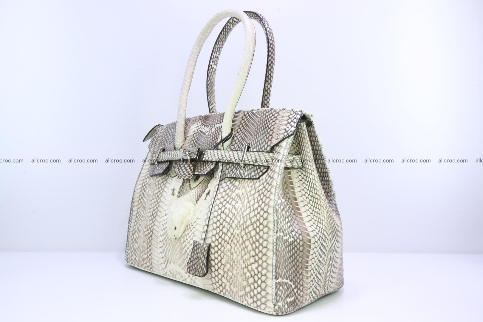 Handbag for lady from cobra skin copy of Birkin with cobra head 191 Foto 2