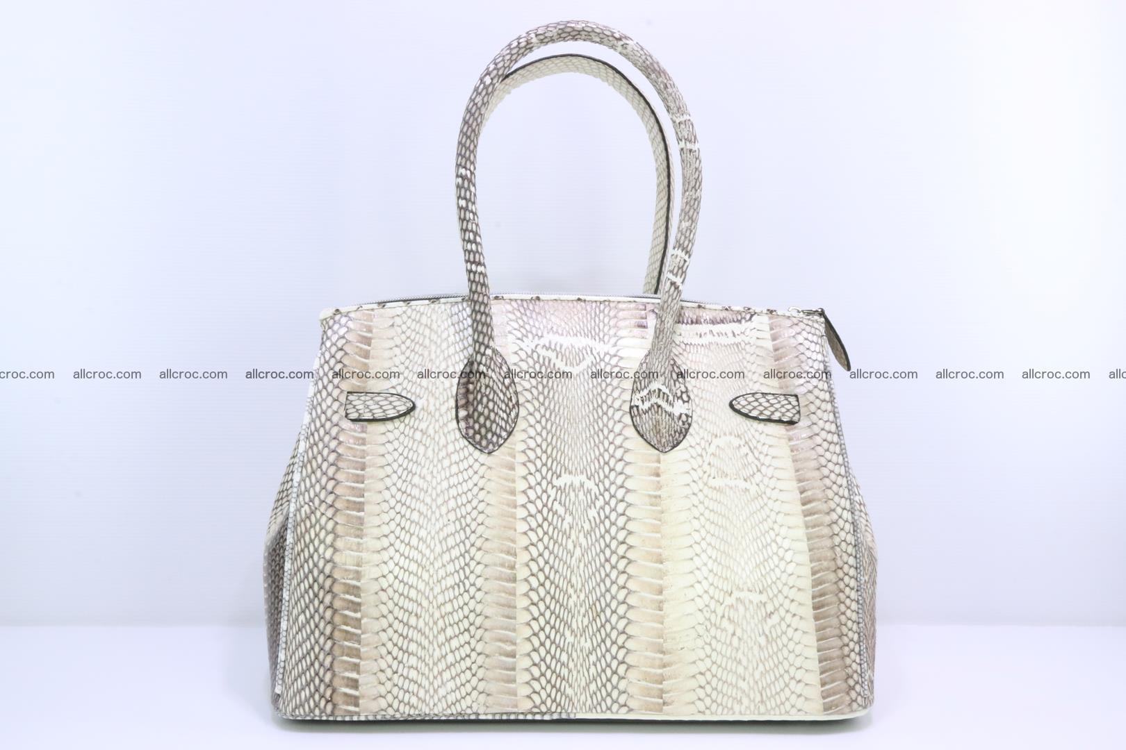 Handbag for lady from cobra skin copy of Birkin with cobra head 191 Foto 3