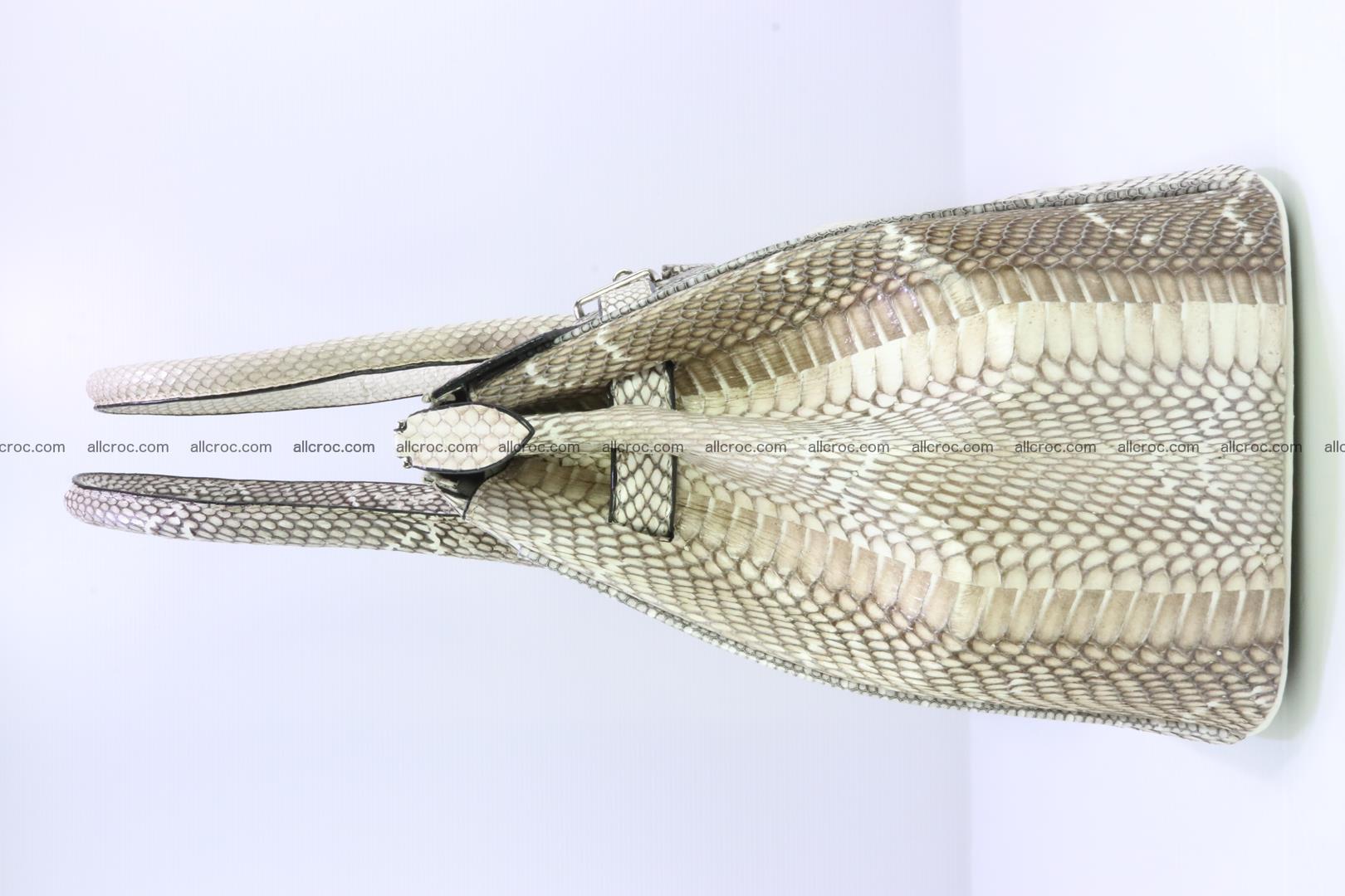 Handbag for lady from cobra skin copy of Birkin with cobra head 191 Foto 4