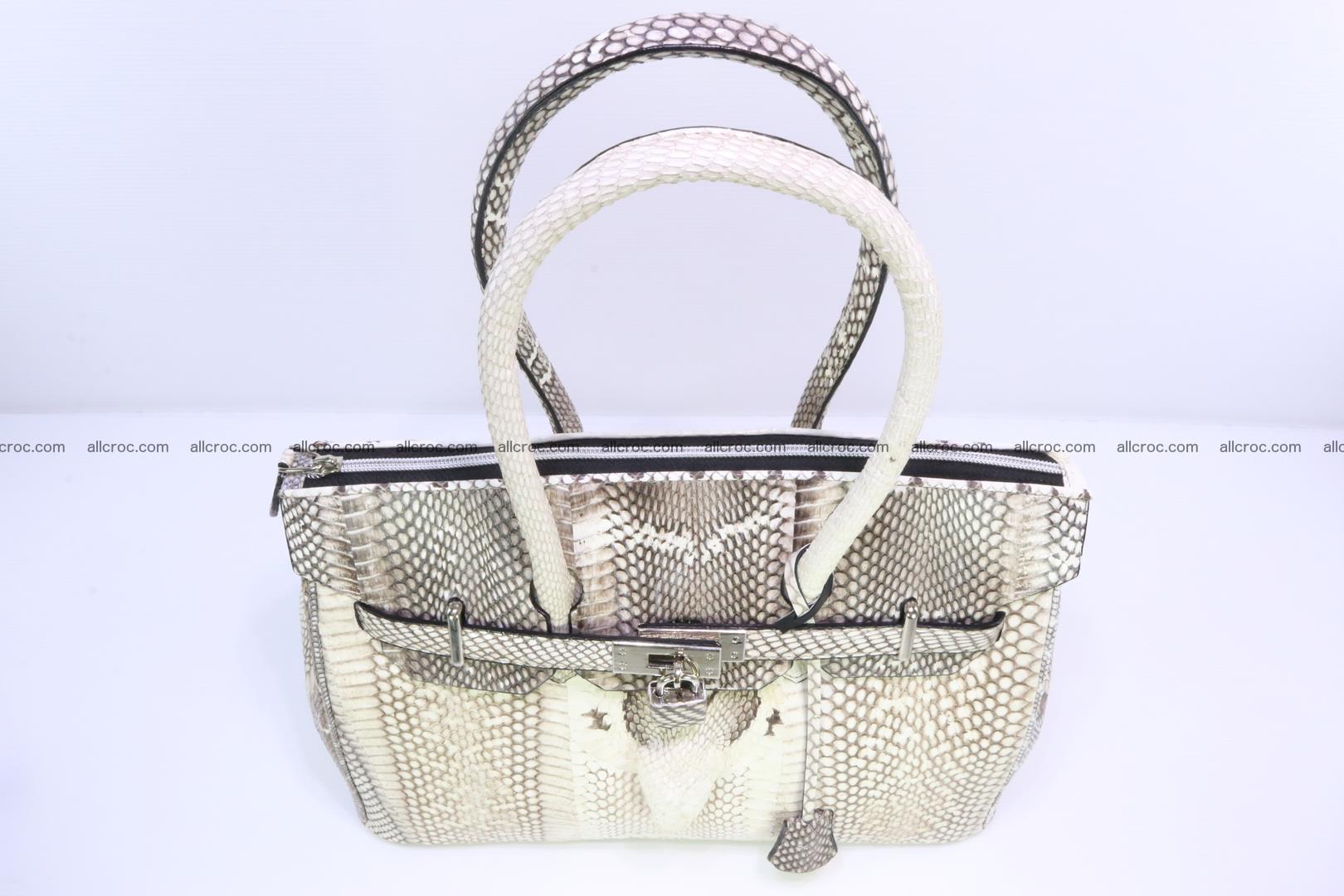 Handbag for lady from cobra skin copy of Birkin with cobra head 191 Foto 5