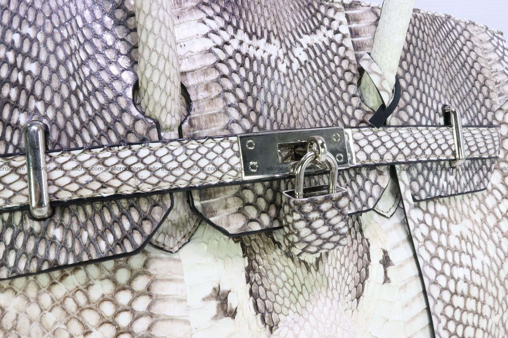Handbag for lady from cobra skin copy of Birkin with cobra head 191 Foto 8