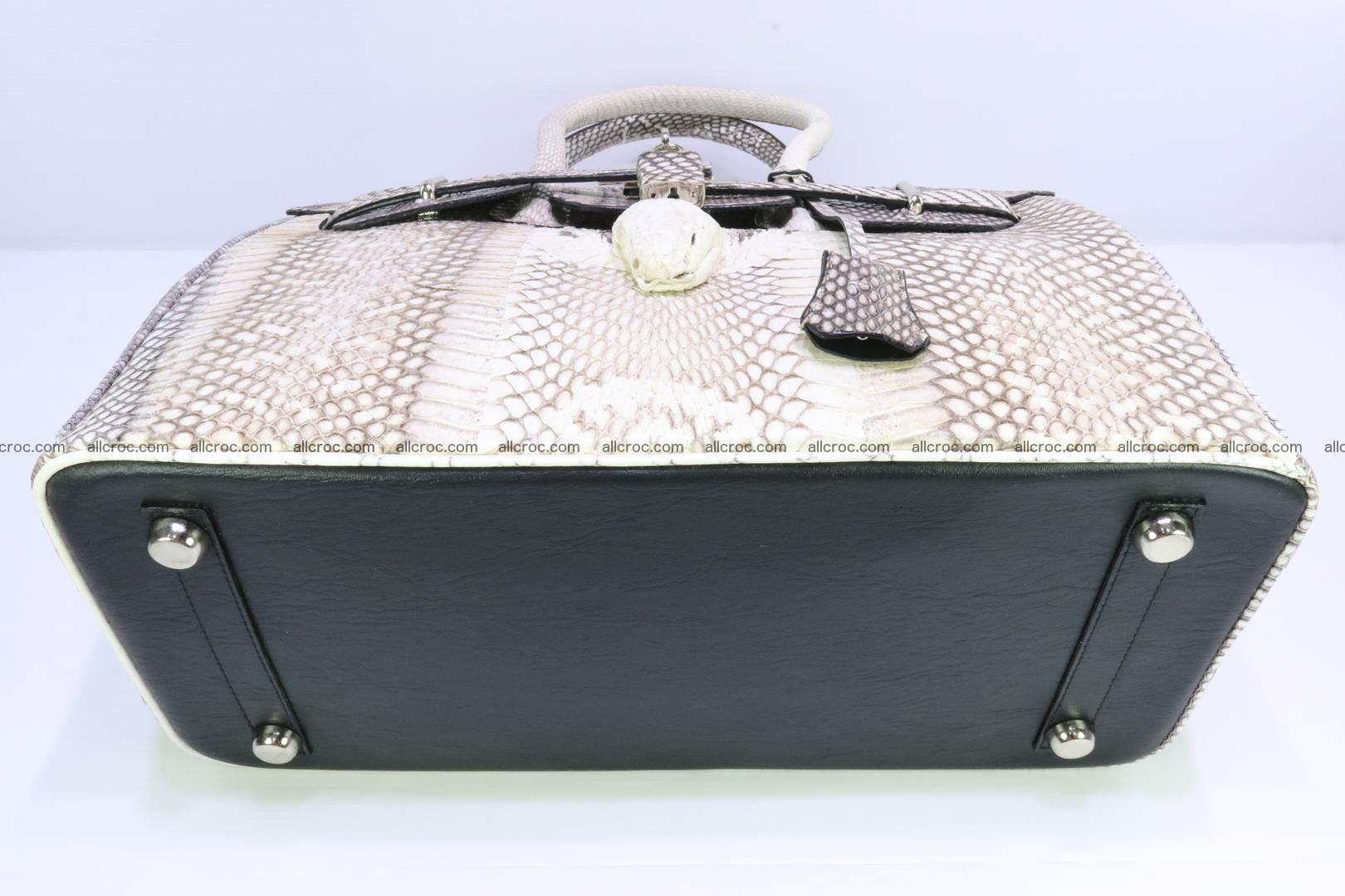 Handbag for lady from cobra skin copy of Birkin with cobra head 191 Foto 9