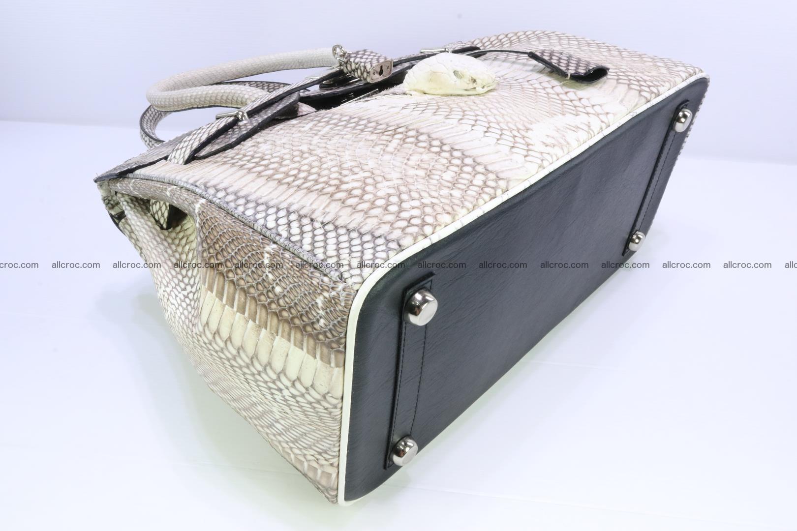 Handbag for lady from cobra skin copy of Birkin with cobra head 191 Foto 10
