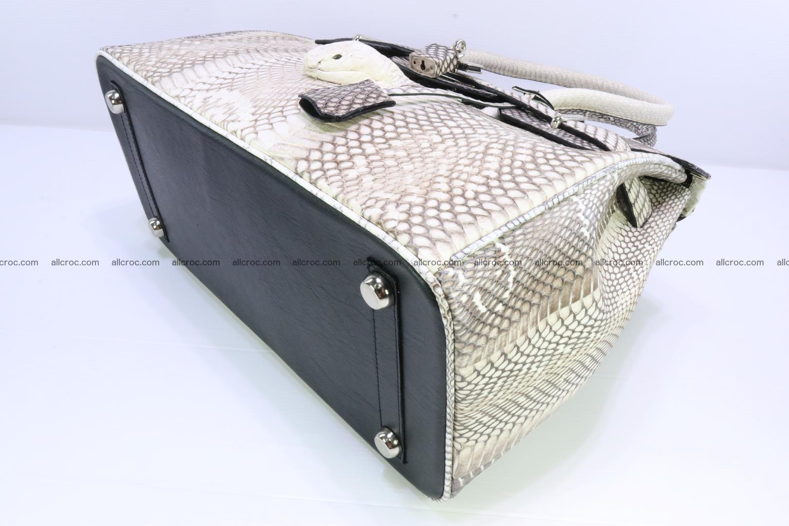 Handbag for lady from cobra skin copy of Birkin with cobra head 191 Foto 11