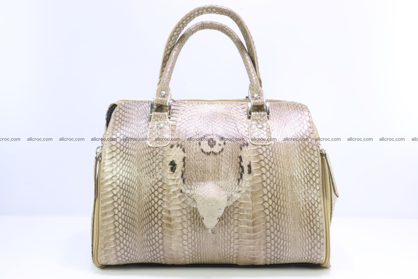 Handbag for lady from cobra skin with cobra head 189 Foto 0