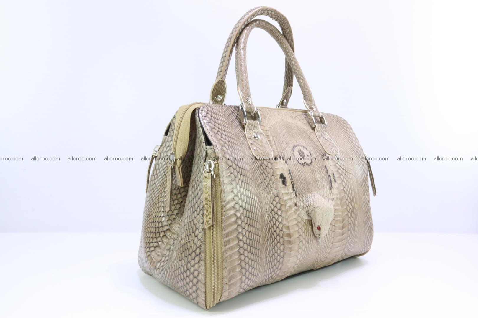 Handbag for lady from cobra skin with cobra head 189 Foto 1