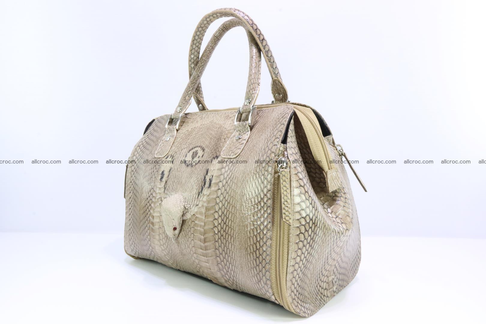 Handbag for lady from cobra skin with cobra head 189 Foto 2