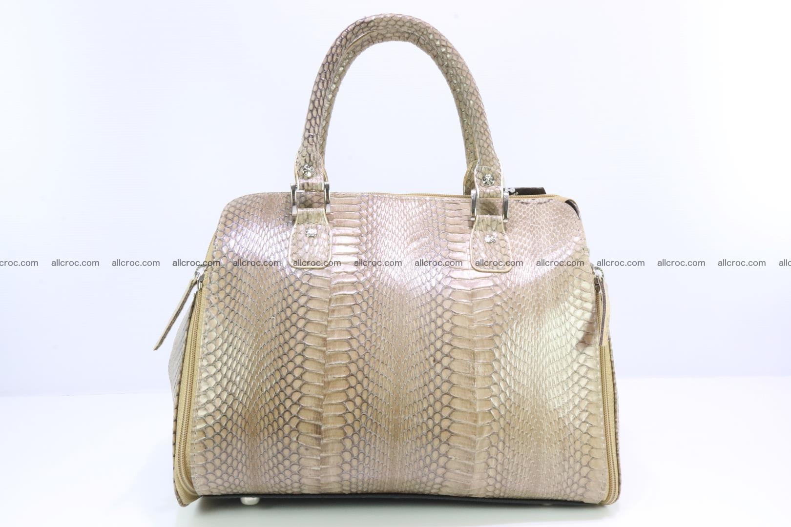 Handbag for lady from cobra skin with cobra head 189 Foto 3