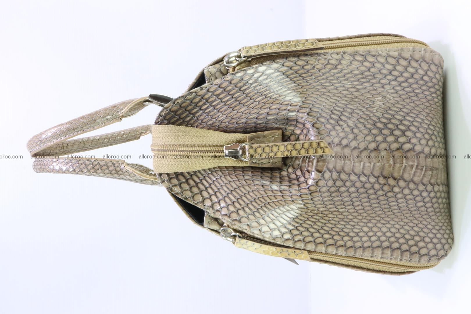 Handbag for lady from cobra skin with cobra head 189 Foto 4
