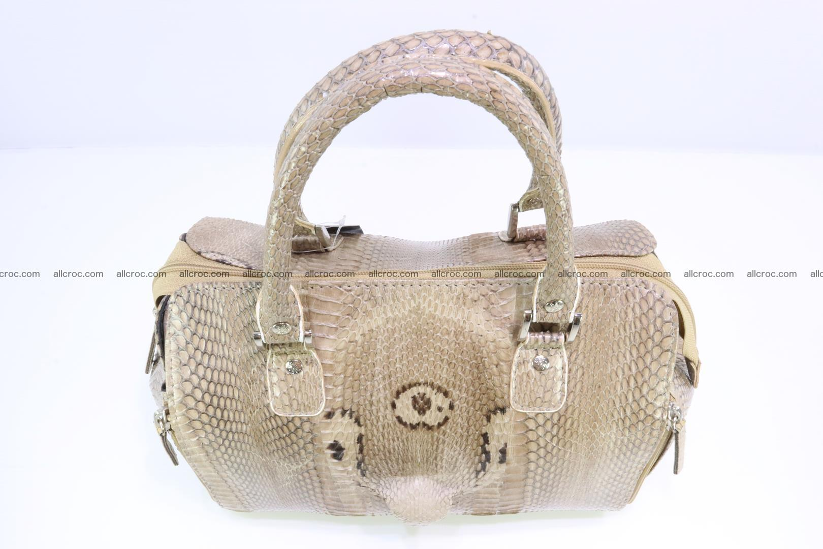 Handbag for lady from cobra skin with cobra head 189 Foto 5