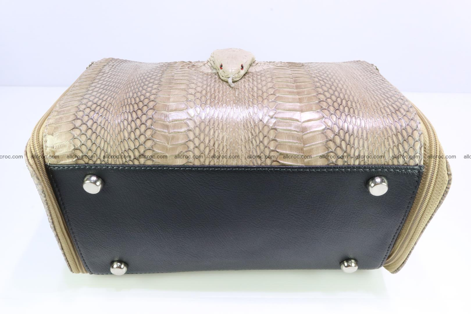Handbag for lady from cobra skin with cobra head 189 Foto 7