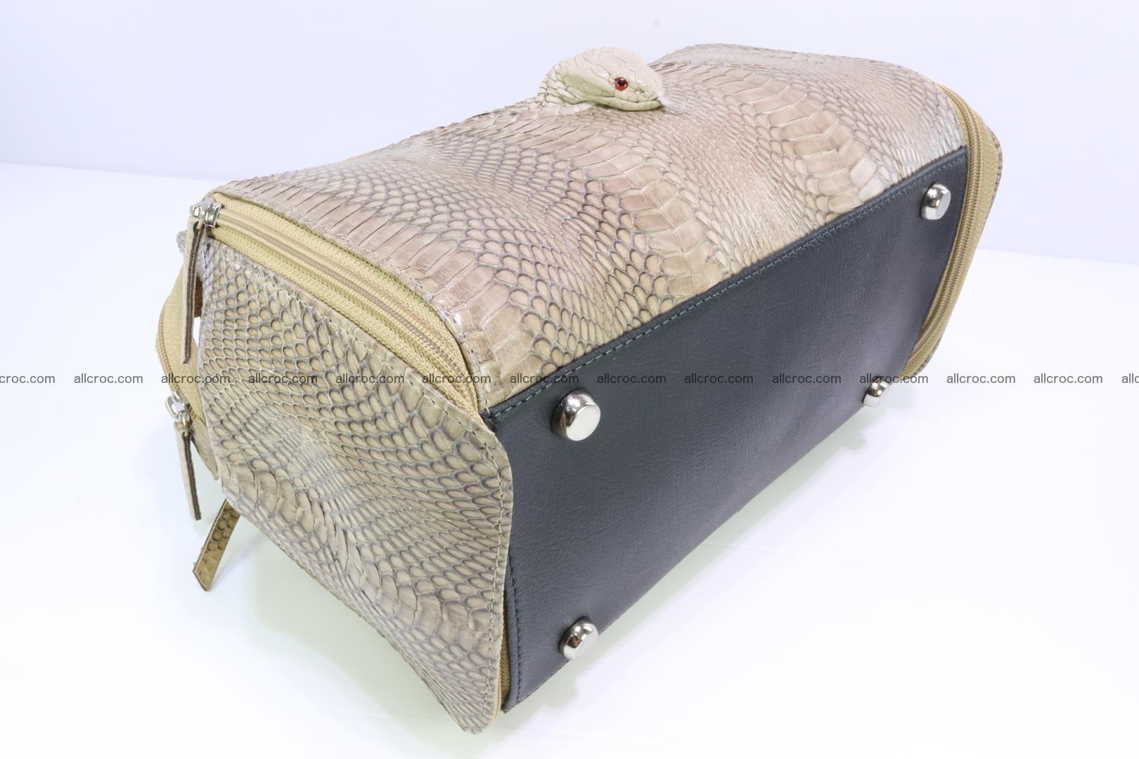Handbag for lady from cobra skin with cobra head 189 Foto 9