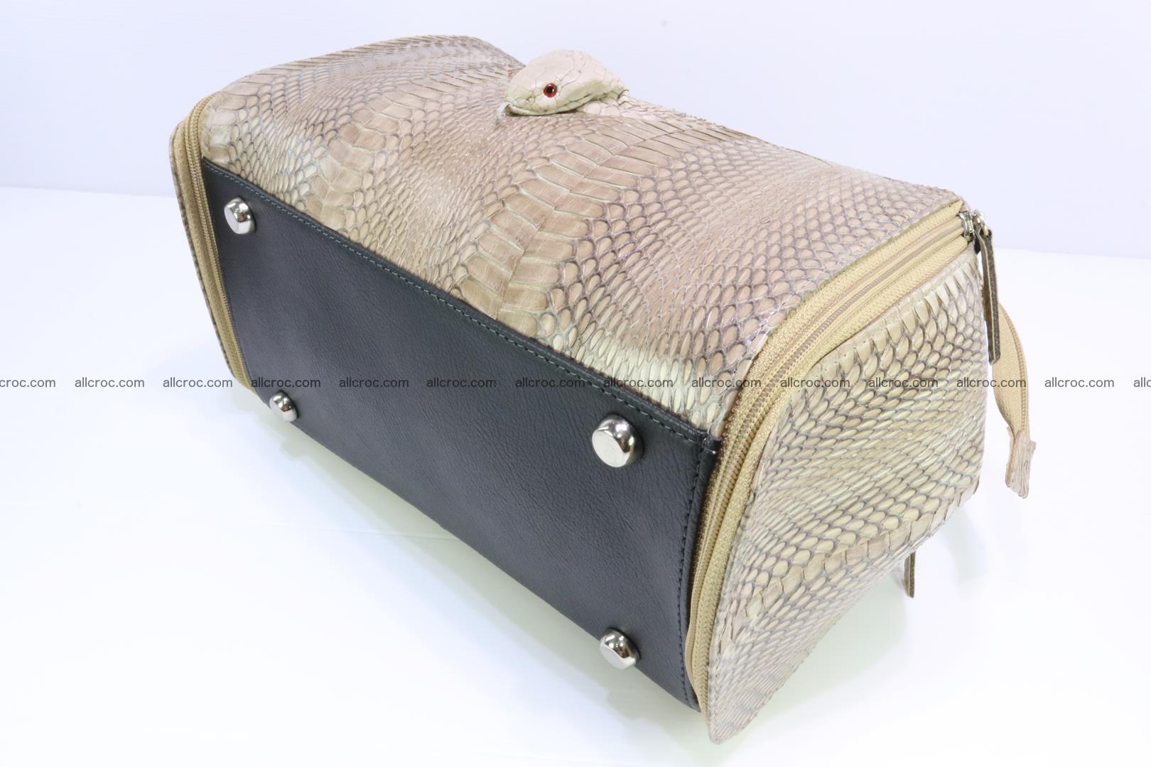 Handbag for lady from cobra skin with cobra head 189 Foto 10