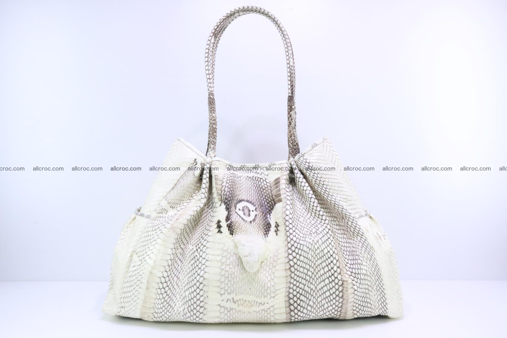 Handbag for lady from cobra skin with cobra head 168 Foto 0