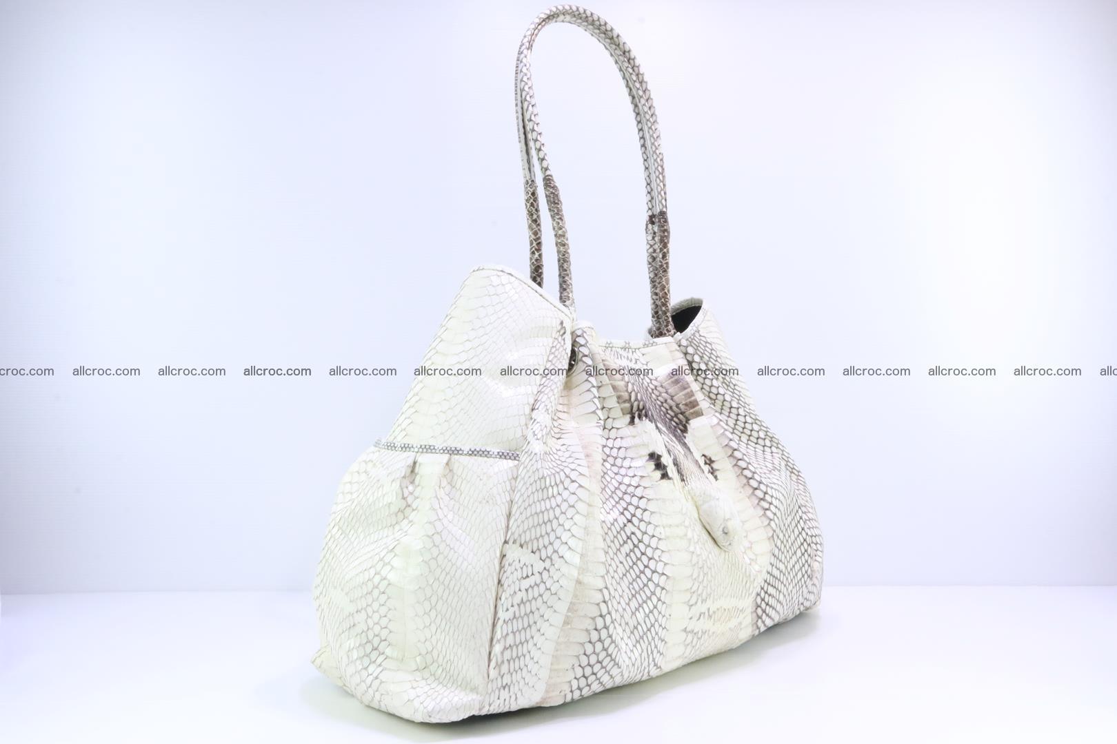 Handbag for lady from cobra skin with cobra head 168 Foto 1