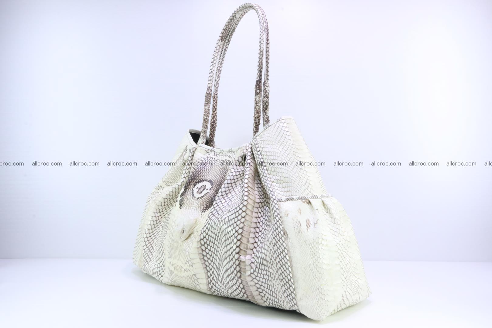 Handbag for lady from cobra skin with cobra head 168 Foto 2