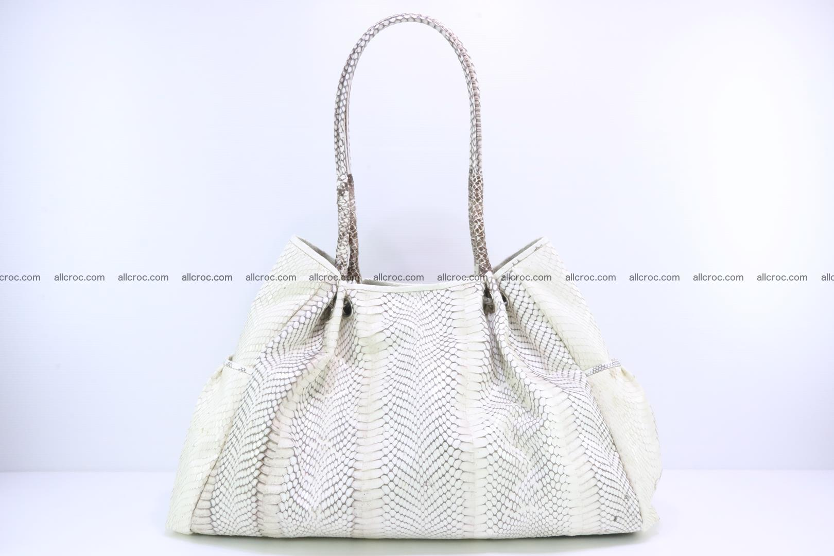 Handbag for lady from cobra skin with cobra head 168 Foto 3