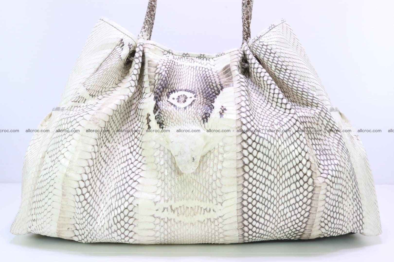 Handbag for lady from cobra skin with cobra head 168 Foto 4