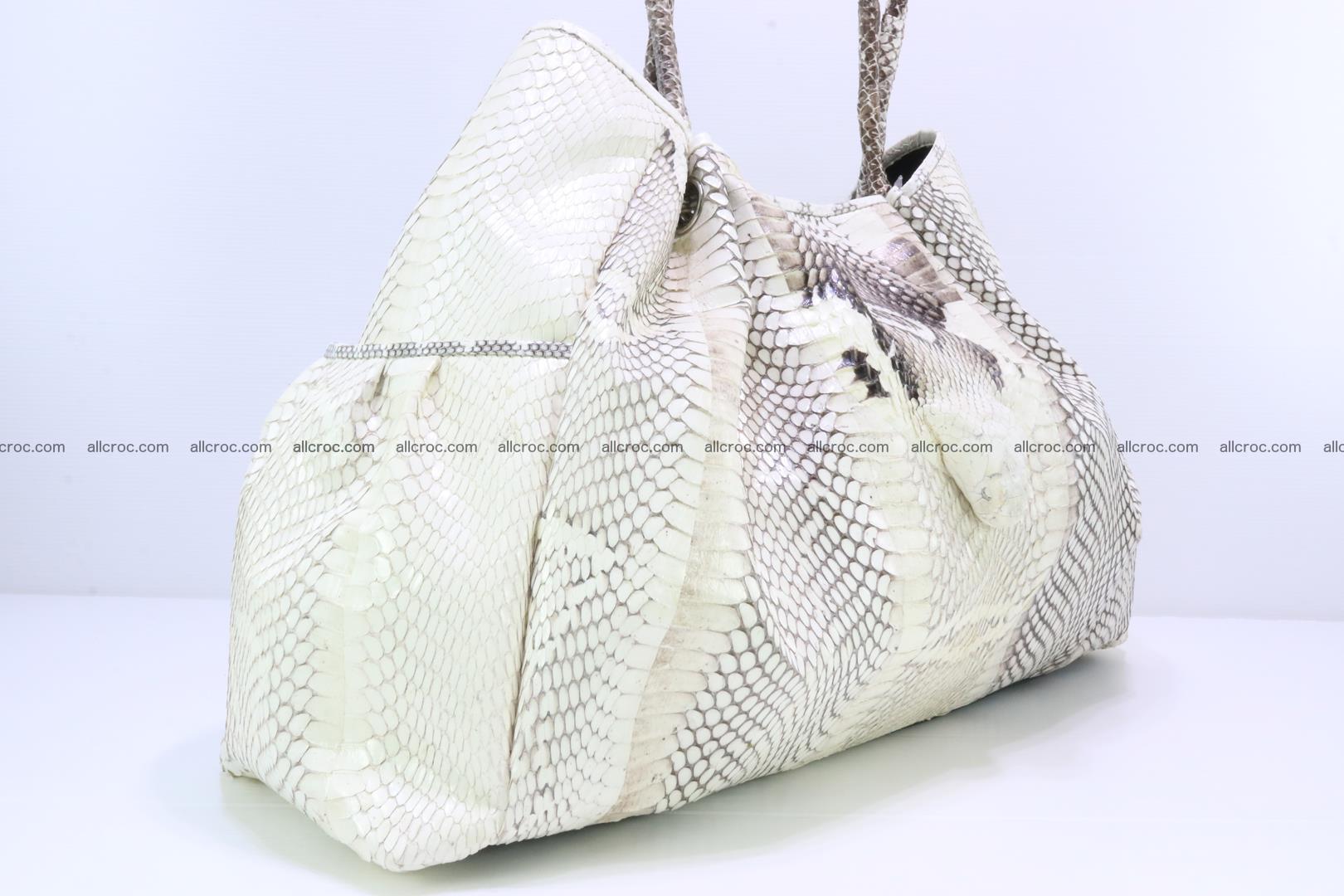 Handbag for lady from cobra skin with cobra head 168 Foto 5