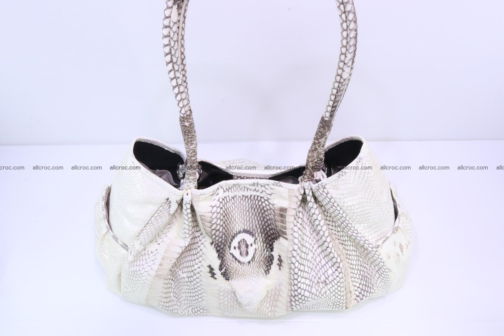 Handbag for lady from cobra skin with cobra head 168 Foto 9