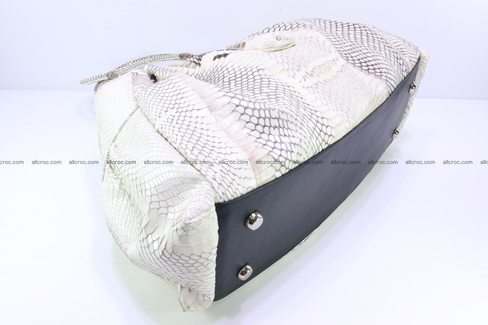 Handbag for lady from cobra skin with cobra head 168 Foto 13