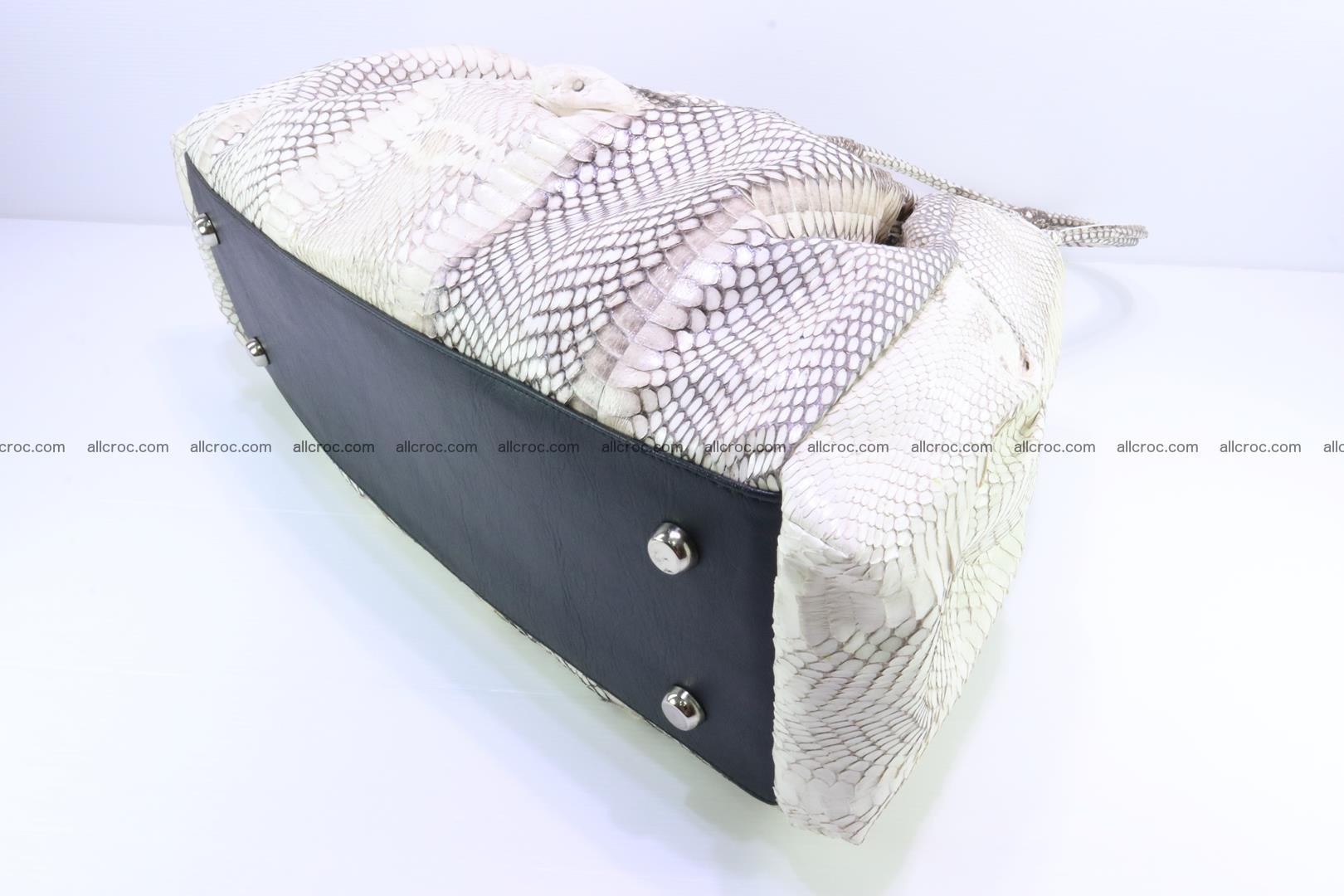 Handbag for lady from cobra skin with cobra head 168 Foto 14