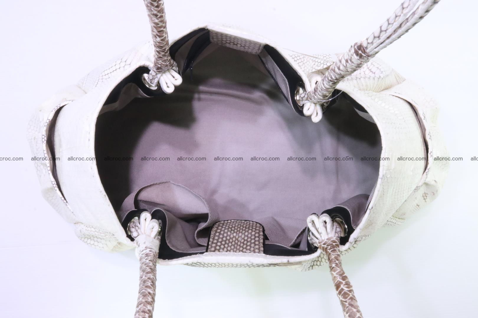 Handbag for lady from cobra skin with cobra head 169 Foto 14