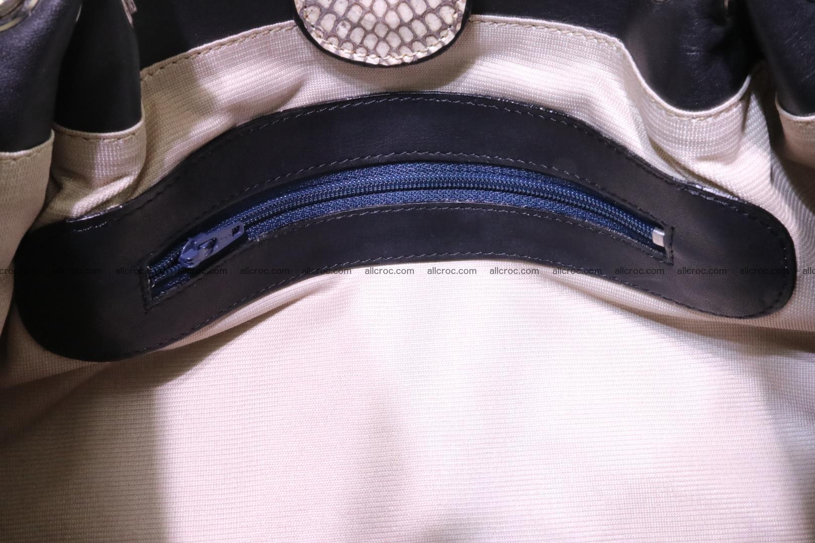 Handbag for lady from cobra skin with cobra head 168 Foto 16