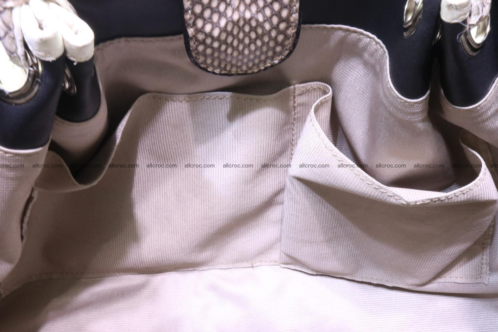 Handbag for lady from cobra skin with cobra head 168 Foto 17