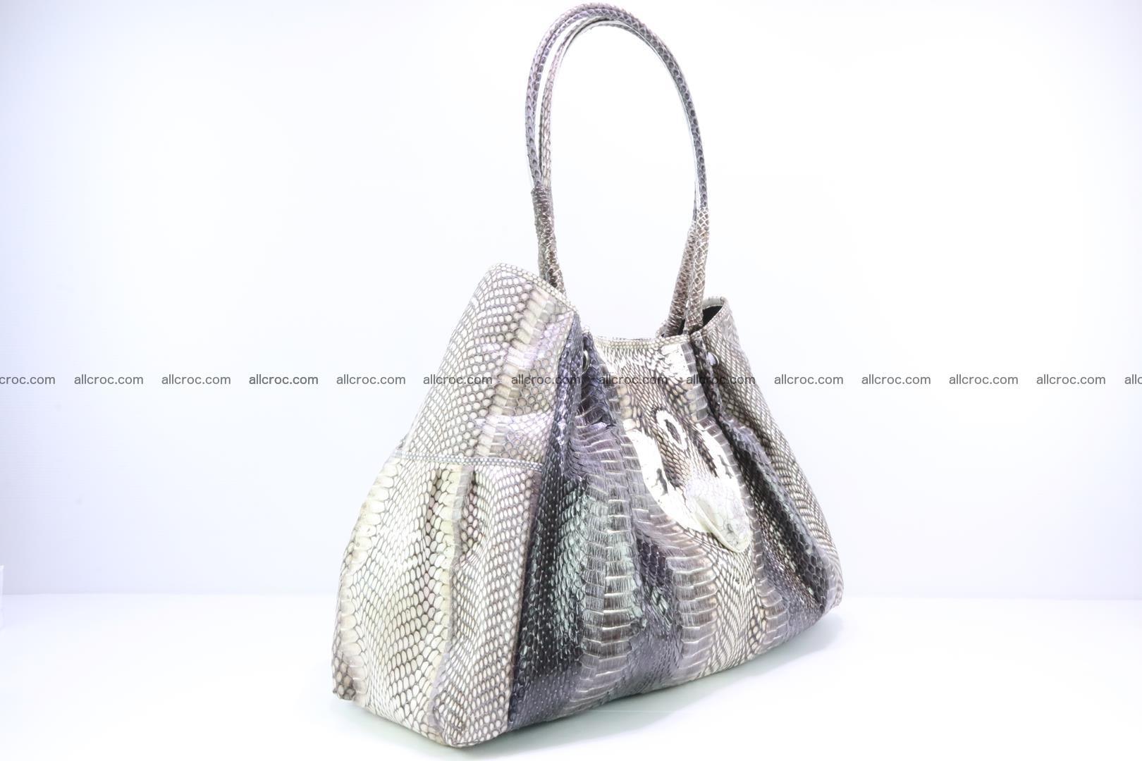 Handbag for lady from cobra skin with cobra head 169 Foto 1